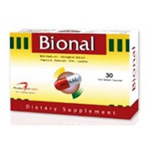 Bional ( Silymarin + Astragalus Root Extract + Zinc + Selenium + Vit C + Lecithin Powder ) 30 hard gelatin capsules