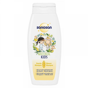 Sanosan Natural Kids 2-in-1 Shower and Shampoo with Lamesoft and Banana Scent 250 ml