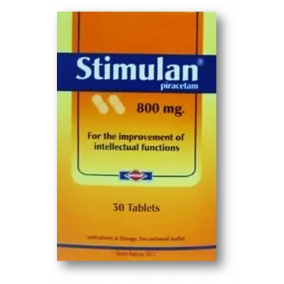 Stimulan 800 mg ( Piracetam ) 30 tablets