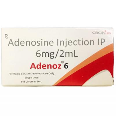 Adenoz 6 mg / 2 ml ( Adenosine ) Injection IP 2 ml ampoule