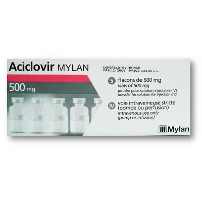 Aciclovir 500 mg ( Acyclovir ) Powder for Solution for Infusion 5 Vials