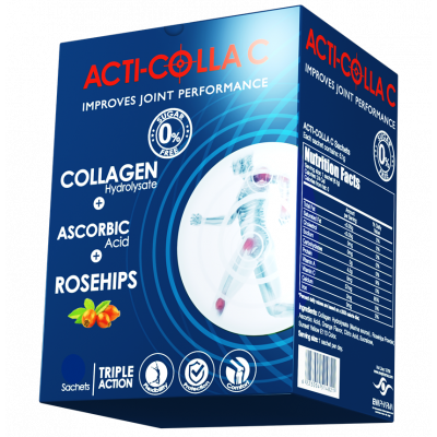 ACTI - COLLA C ( Collagen hydrolysate 5 gm + Rosehips 0.5 gm + Ascorbic acid 57 mg ) 10 Sachets