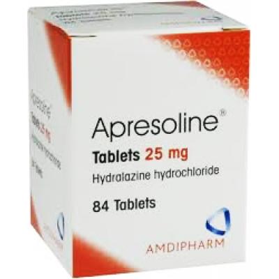 APRESOLINE 25 mg ( Hydralazine ) 84 tablets
