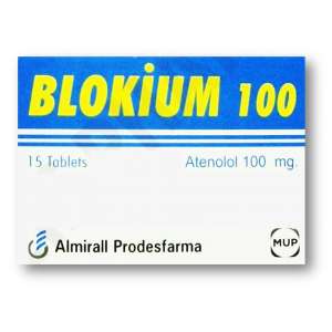BLOKIUM 100 mg ( Atenolol ) 15 tablets