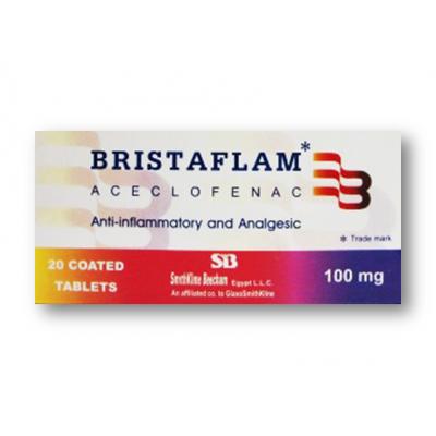 BRISTAFLAM 100 MG ( ACECLOFENAC ) 20 FILM-COATED  TABLETS