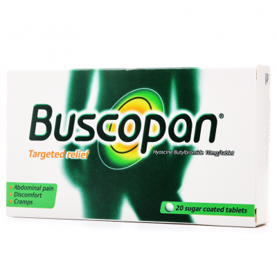 BUSCOPAN 10 MG ( HYOSCIN - N - BUTYLBROMID ) 20 SUGAR-COATED TABLETS