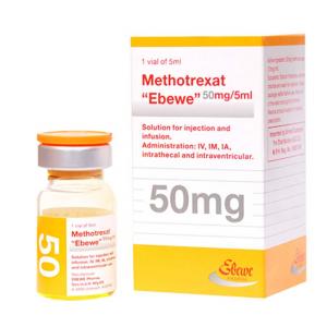 METHOTREXATE EBEWE 250 MG ( METHOTREXATE ) 50 MG / 5 ML VIAL
