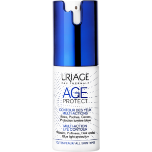 URIAGE AGE PROTECT MULTI-ACTION EYE CONTOUR WRINKLES PUFFINESS DARK CIRCLES BLUE LIGHT PROTECTION 15 ML