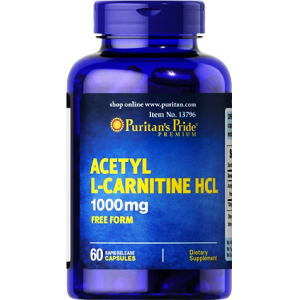Acetyl L - Carnitine HCL 1000 mg Puritan's Pride Free Form 60 capsules