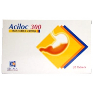 Aciloc 300 mg Tablet ( ranitidine ) 20 film-coated tablets