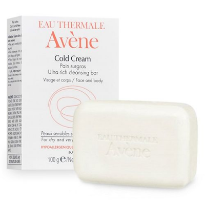 Avene Eau Thermale  Cold Cream Ultra Rich Cleansing Bar 100 g