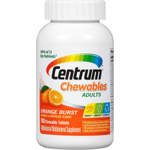 Centrum Chewables adults  Multivitamin / Multimineral Supplement  Orange Burst  100 chewable tablets