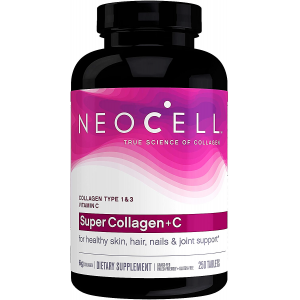 Super Collagen + C NeoCell 250 tablets  Collagen type 1 & 3 + Vitamin C  for healthy skin , hair , nails & joint support