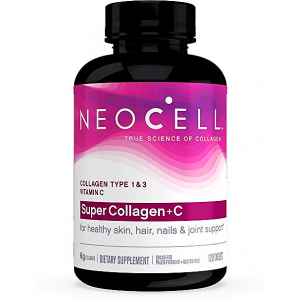 Super Collagen + C NeoCell 120 tablets  Collagen type 1 & 3 + Vitamin C  for healthy skin , hair , nails & joint support