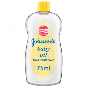 Johnson's Baby Oil  with Camomile  Locks in More Than Double The Moisture  75 mL