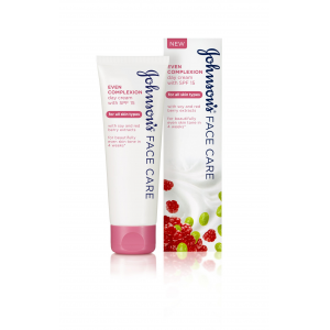 Johnson's Face Care Even Complexion  Daily Cream   With SPF 15  For All Skin Types