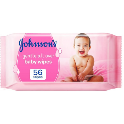 Johnson's Baby Wipes 56 wipes  Gentle All Over Baby Wipes