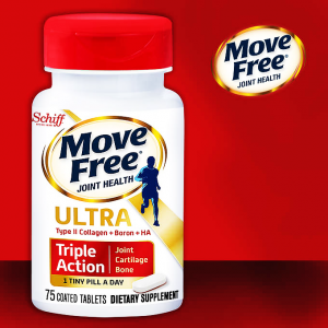 Move Free Joint Health Ultra  Triple Action  ( Proprietary Cartilage Blend + Boron + Hyaluronic Acid )  75 coated tablets