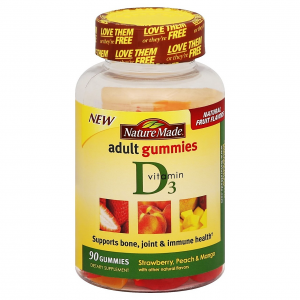 Vitamin D 3 Adult Gummies 2000 IU Nature Made  Supports Bone , Teeth , Muscle & Immune System  90 gummies