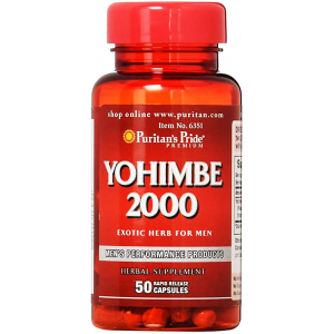 Yohimbe 2000 mg Puritan's Pride  Exotic Herb For Men  50 capsules
