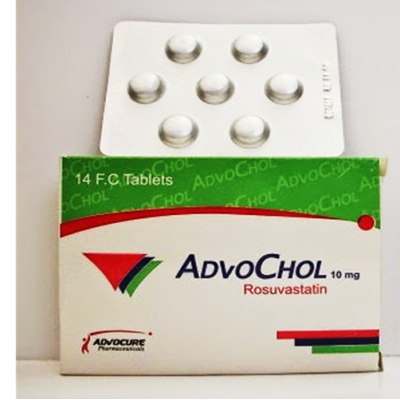 Advochol 10 mg ( rosuvastatin ) 14 film-coated tablets