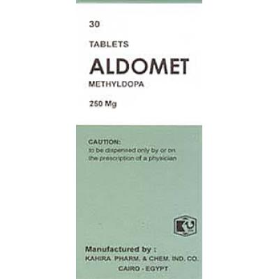 Aldomet ® 250 mg ( methyldopa ) 30 tablets