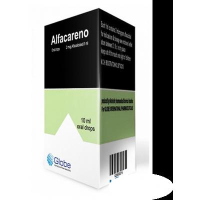 Alfacareno 2 mcg / mL (  Alfacalcidol ) Oral Drops 10 mL