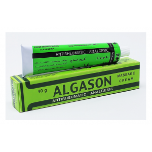 Algason Massage Cream ( Camphor + Diethylamine Salicylate + Menthol ) 40 gm