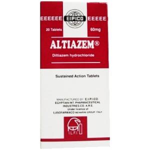 Altiazem 60 mg ( Diltiazem ) 40 tablets