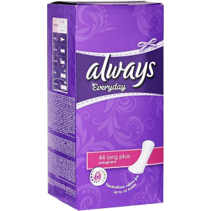 always everyday 44 long plus pantyliners  neutralizes odors for up to 12 hours protection