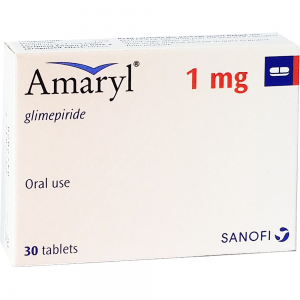 Amaryl 1 mg ( Glimepiride ) 30 tablets