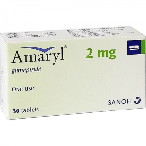 Amaryl 2 mg ( Glimepiride ) 30 tablets