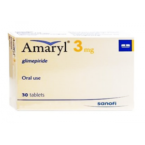 Amaryl 3 mg ( glimepiride ) 30 Tablets