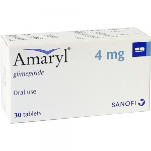 Amaryl 4 mg ( Glimepiride ) 30 tablets