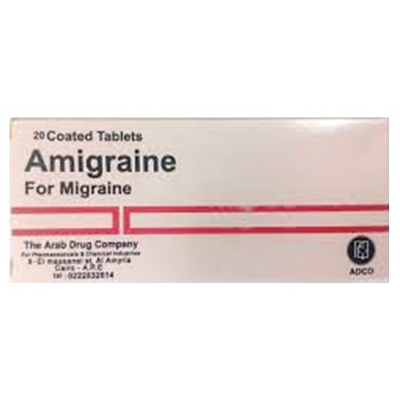 Amigraine ADCO ( Ergotamine 1 mg + Caffeine 100 mg + Metamizole 300 mg ) 30 tablets