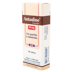 Antodine 40 mg ( Famotidine ) 30 film-coated tablets
