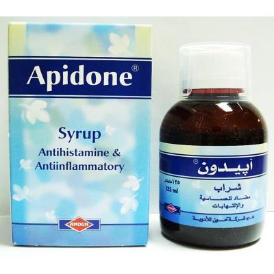 Apidone Syrup ( Chlorpheniramine 2 mg + Dexamethasone 0.5 mg ) 125 mL