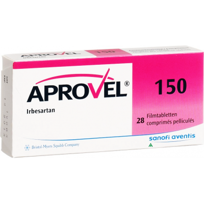 Aprovel 150 mg ( Irbesartan ) 14 tablets