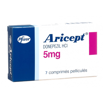 Aricept 5 mg ( Donepezil ) 7 film-coated tablets