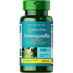 Ashwagandha Extract 500 mg Puritan's Pride  Traditional herb  60 capsules