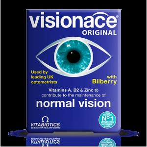 Visionace Original Vitabiotics  ( Vitamin A + B 2 + Zinc )  30 tablets