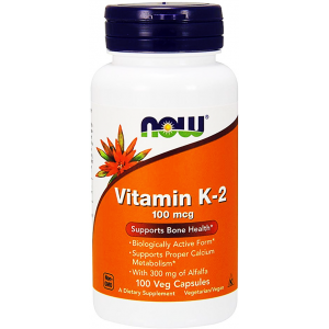 Vitamin - k 2 100 mcg NOW  Supports Bone Health 100 Vegetarian Capsules