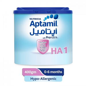 Aptamil HA 1 Hypo-Allergic Milk with Pronutra Infants 0 - 6 Months 400 gm