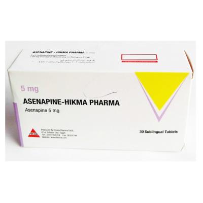ASENAPINE - HIKMA PHARMA 5 mg ( Asenapine ) 30 sublingual tablets