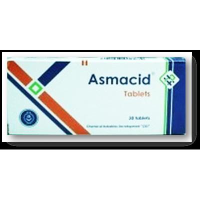 Asmacid ( Theophylline 0.12 gm + ephedrine HCl 0.015 mg + postafene HCl 0.025 mg + phenobarbitone 0.01 gm ) 30 tablets