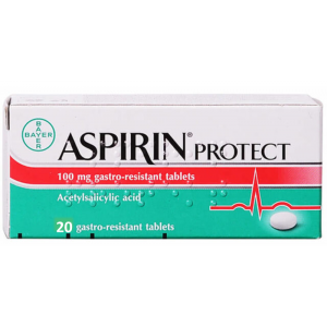 Aspirin Protect 100 mg ( Acetylsalicylic Acid ) 20 gastro-resistant tablets
