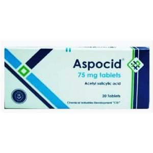 Aspocid 75 mg ( Acetylsalicylic Acid ) 20 tablets