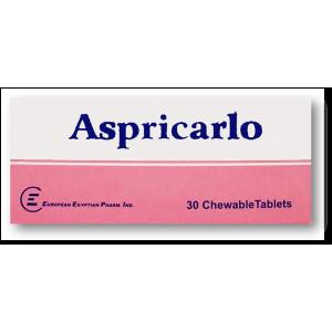 Aspricarlo 81 mg ( Acetylsalicylic Acid ) 30 chewable tablets