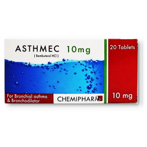 Asthmec 10 mg ( Bambuterol ) 20 tablets