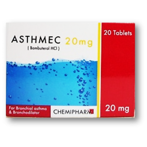 Asthmec 20 mg ( Bambuterol ) 20 tablets